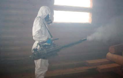 горячий туман от комаров