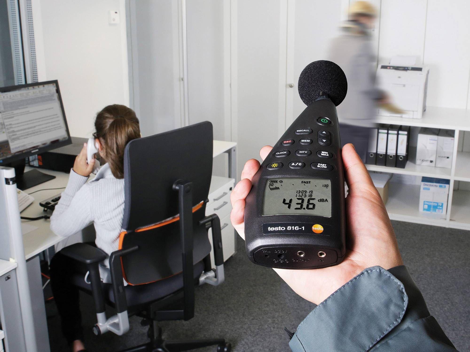 измерение уровня шума в офисе